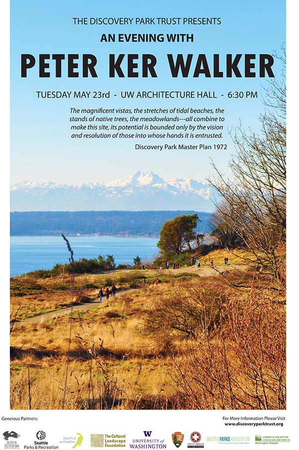An Evening with Peter Ker Walker: The Making of Seattle's Largest Public Park