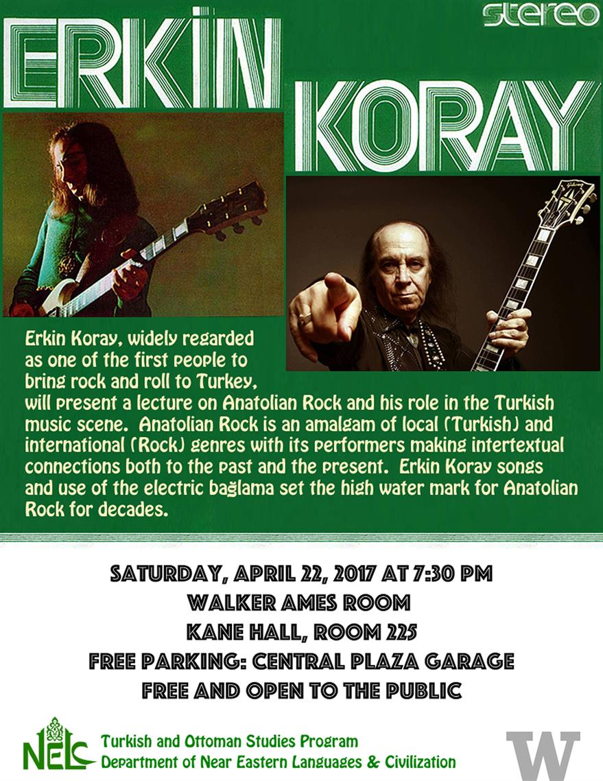 An Evening with Anatolian Rock Legend Erkin Koray - A Lecture