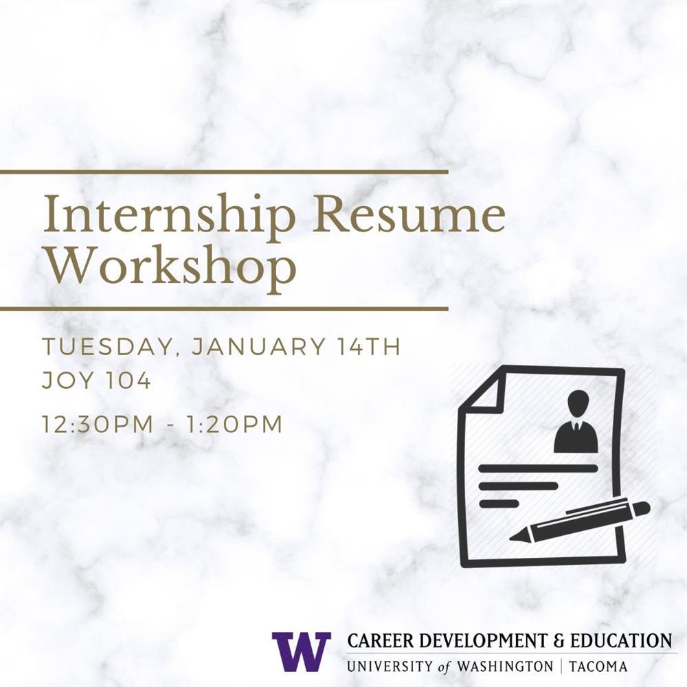 Internship Resume workshop