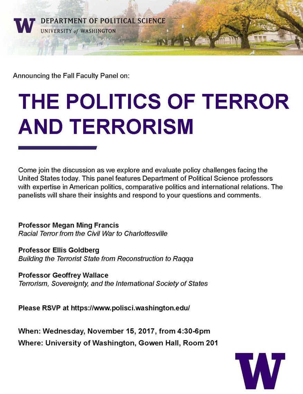 The Politics of Terror and Terrorism