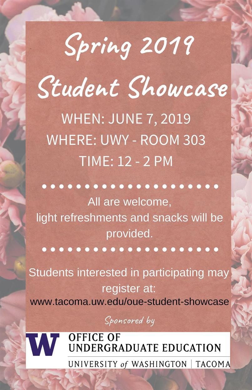 Spring Undergraduate Student Showcase