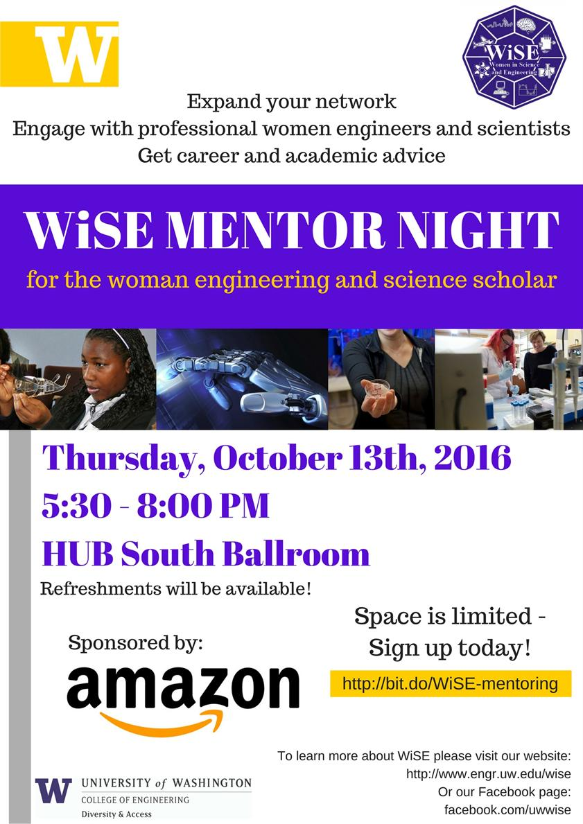 WiSE Fall Mentor Night