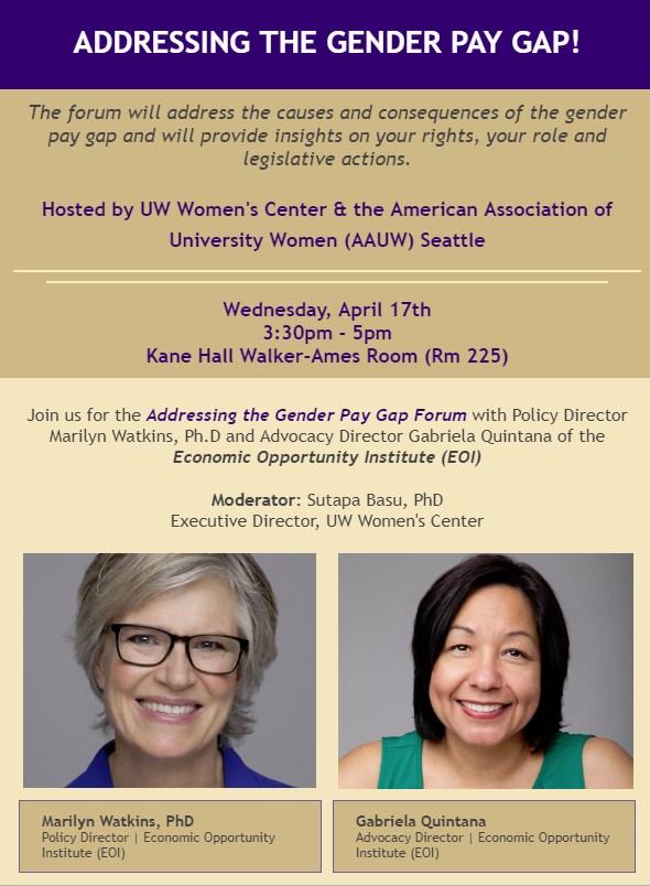 Addressing the Gender Pay Gap Forum