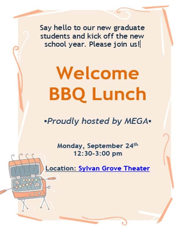 ME Graduate Students Welcome BBQ Lunch
