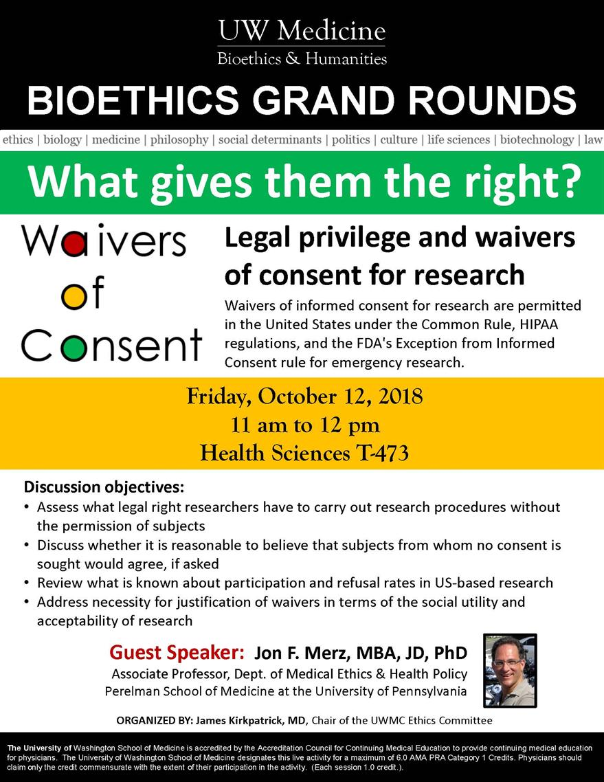 Bioethics Grand Rounds