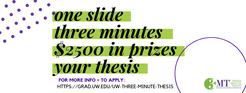 Call for Proposals: UW Three Minute Thesis 2019!