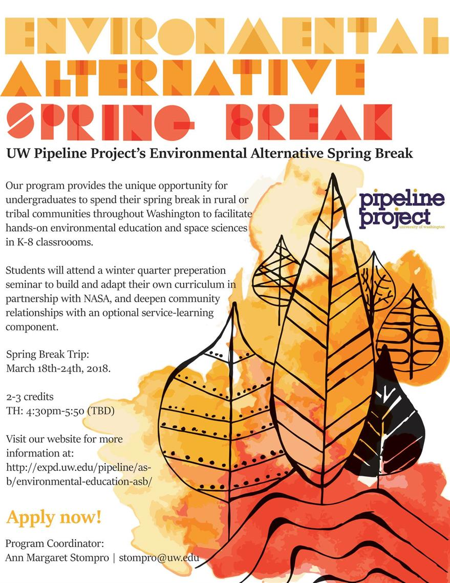 Environmental Alternative Spring Break information session