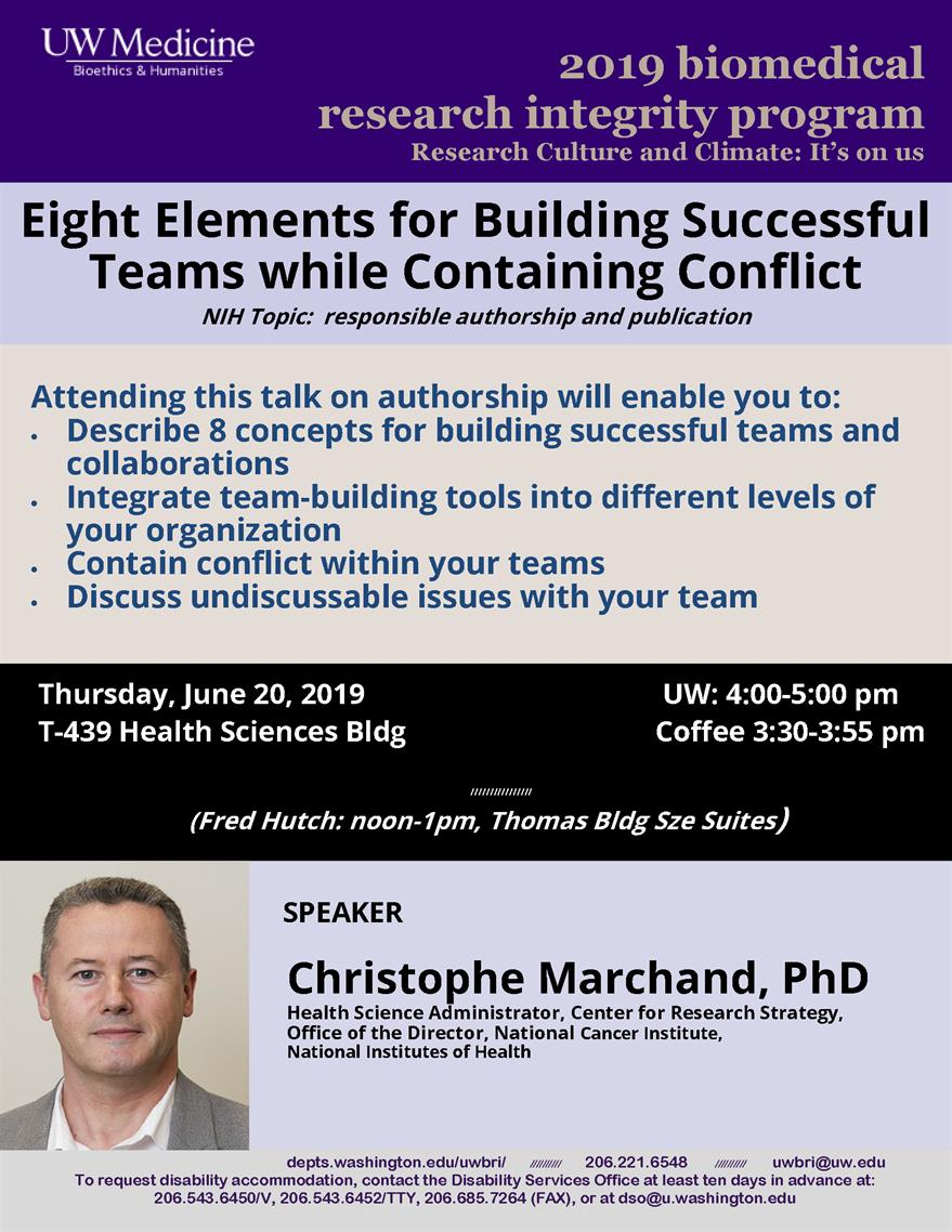 BRI - Lecture #1: Eight Elements for Building Successful Teams while Containing Conflict