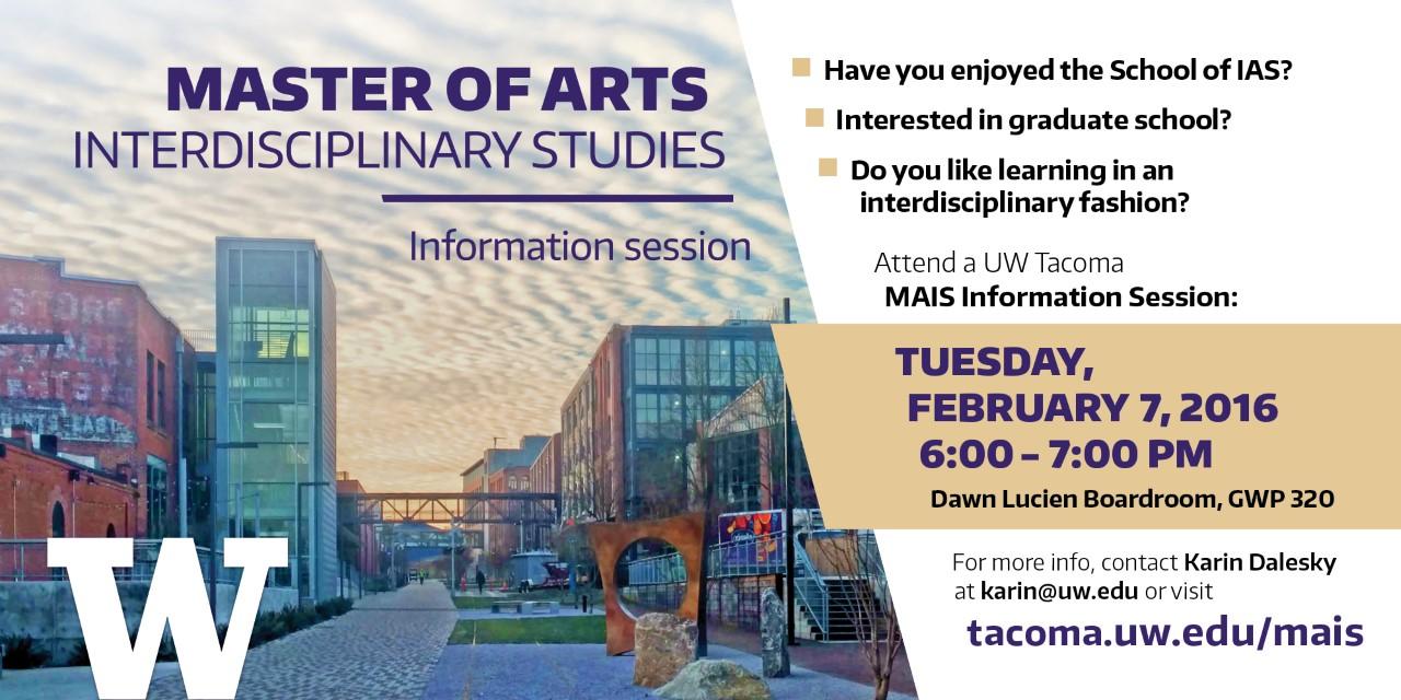 Master of Arts in Interdisciplinary Studies Information Session