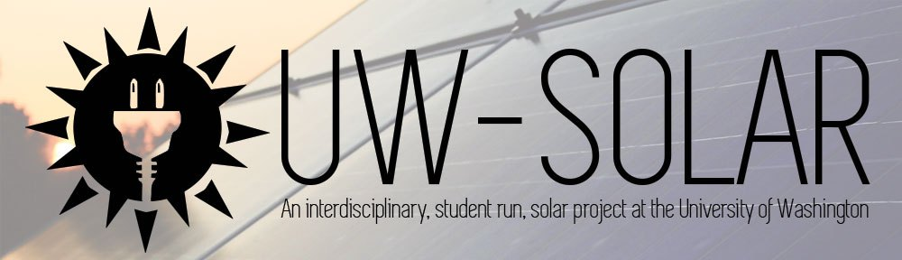 UW Solar Meeting