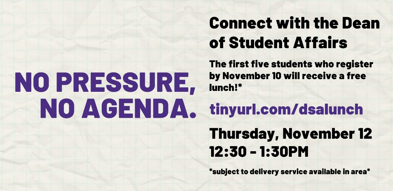 Lunch with the Dean of Student Affairs