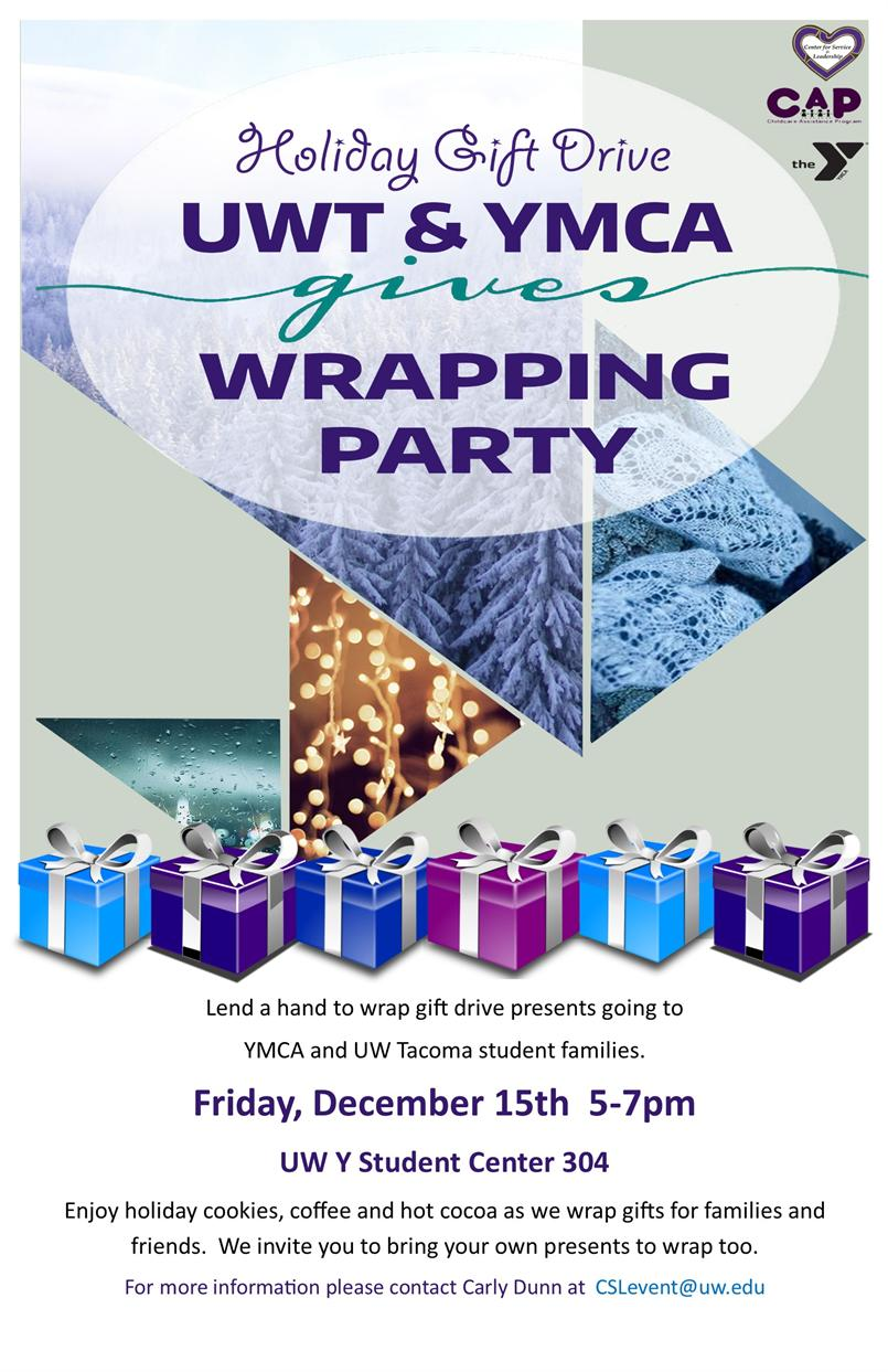 UWT & YMCA Give Wrapping Party