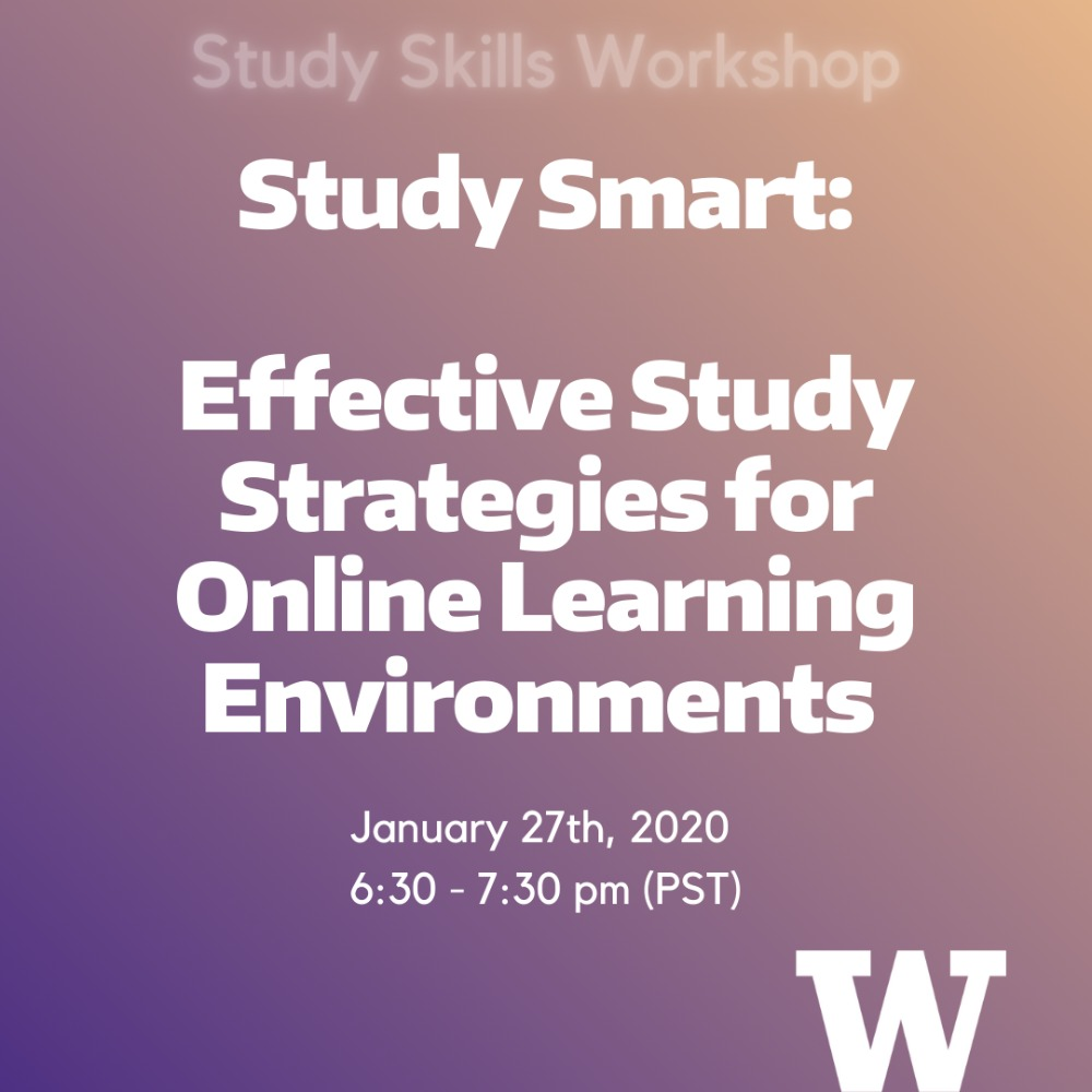 Study Smart: Effective Study Strategies For Online Learning Environments
