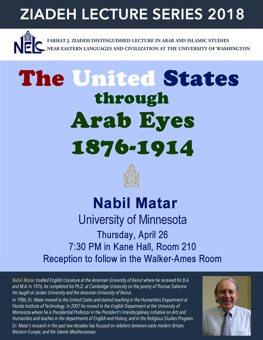 Ziadeh Lecture Series: The United States through Arab Eyes