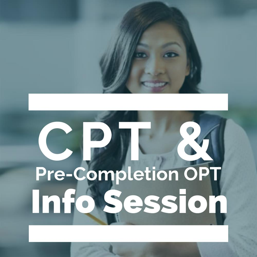 CPT and Pre-Completion OPT Workshop