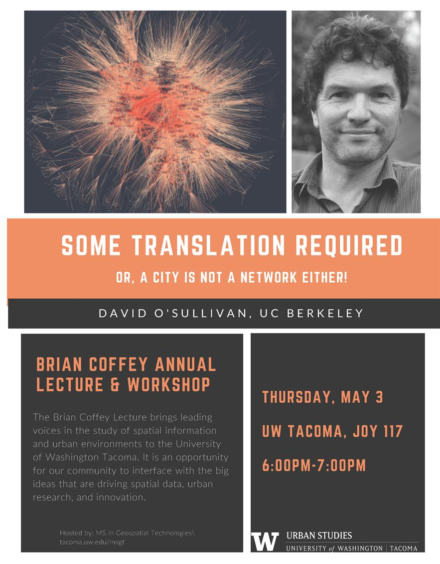 Brian Coffey Annual Lecture & Workshop