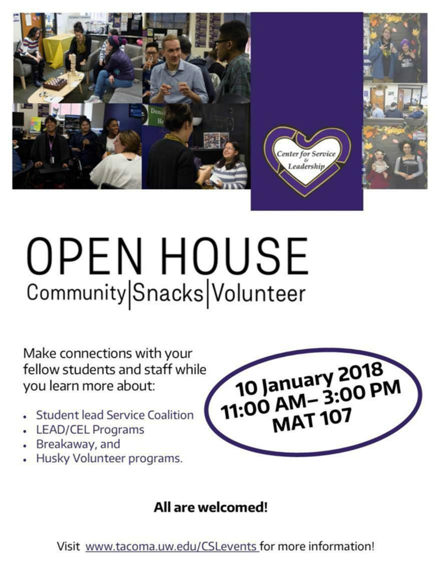 Center for Service and Leadership Open House