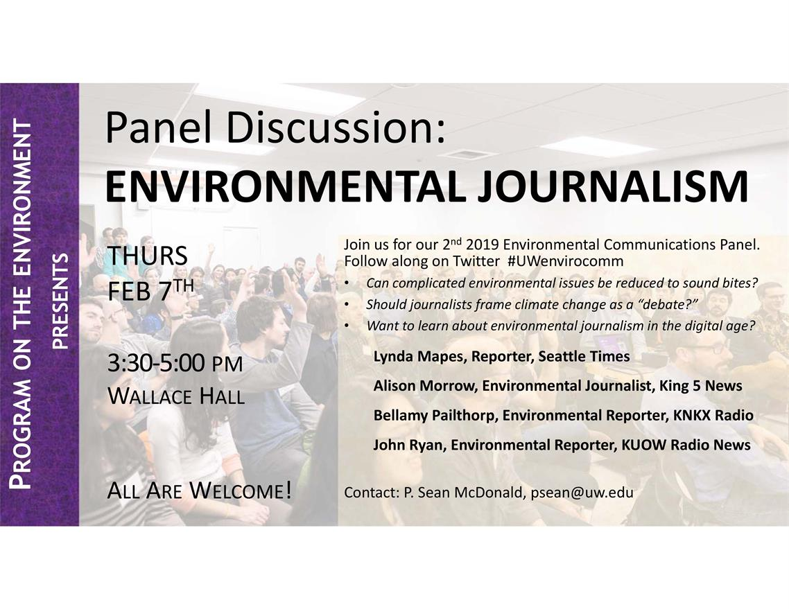 Environmental Journalism Panel Discussion