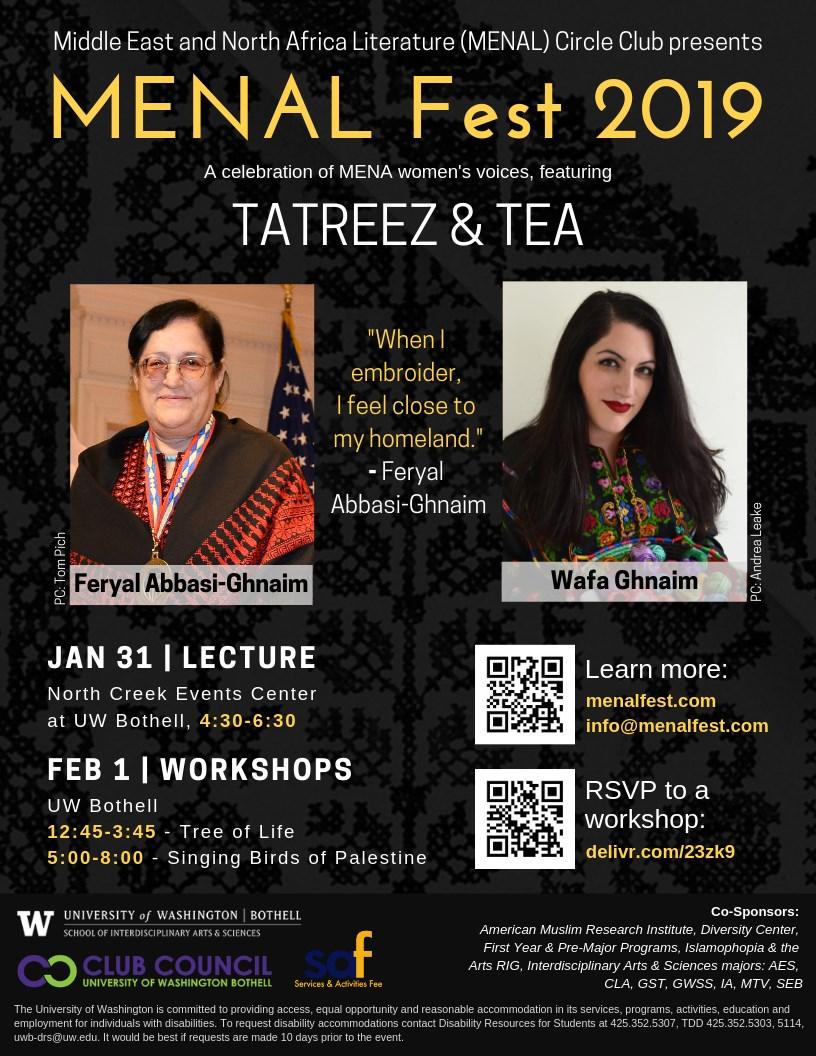 MENAL Fest Lecture featuring Tatreez & Tea