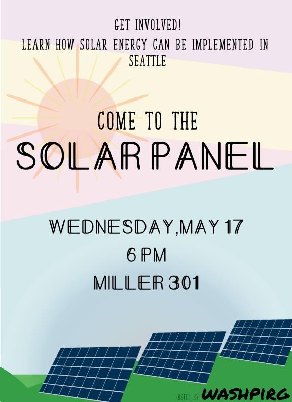 WashPIRG's Solar Panel