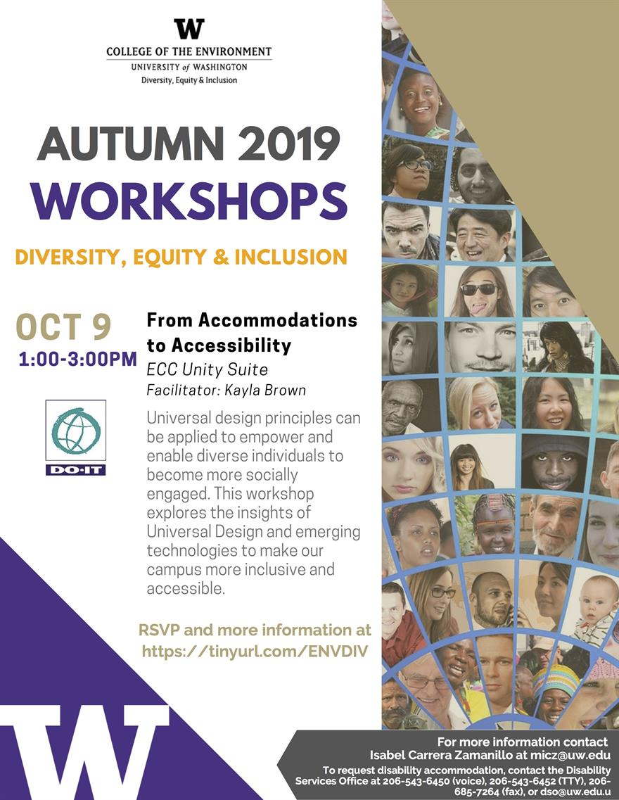 Diversity, Equity, and Inclusion Workshop: From Accommodations to Accessibility