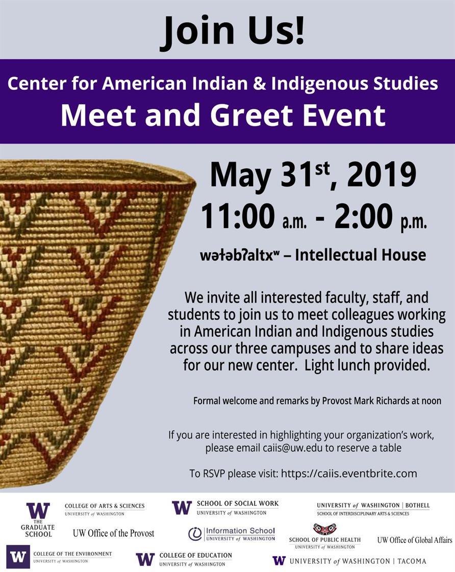 Center for American Indian & Indigenous Studies Meet & Greet