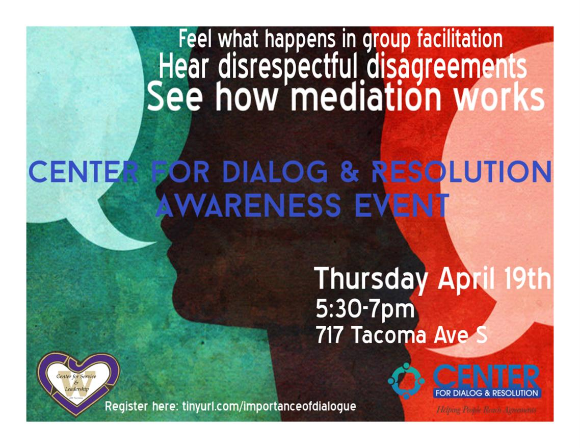 Center for Dialog & Resolution Awareness Event