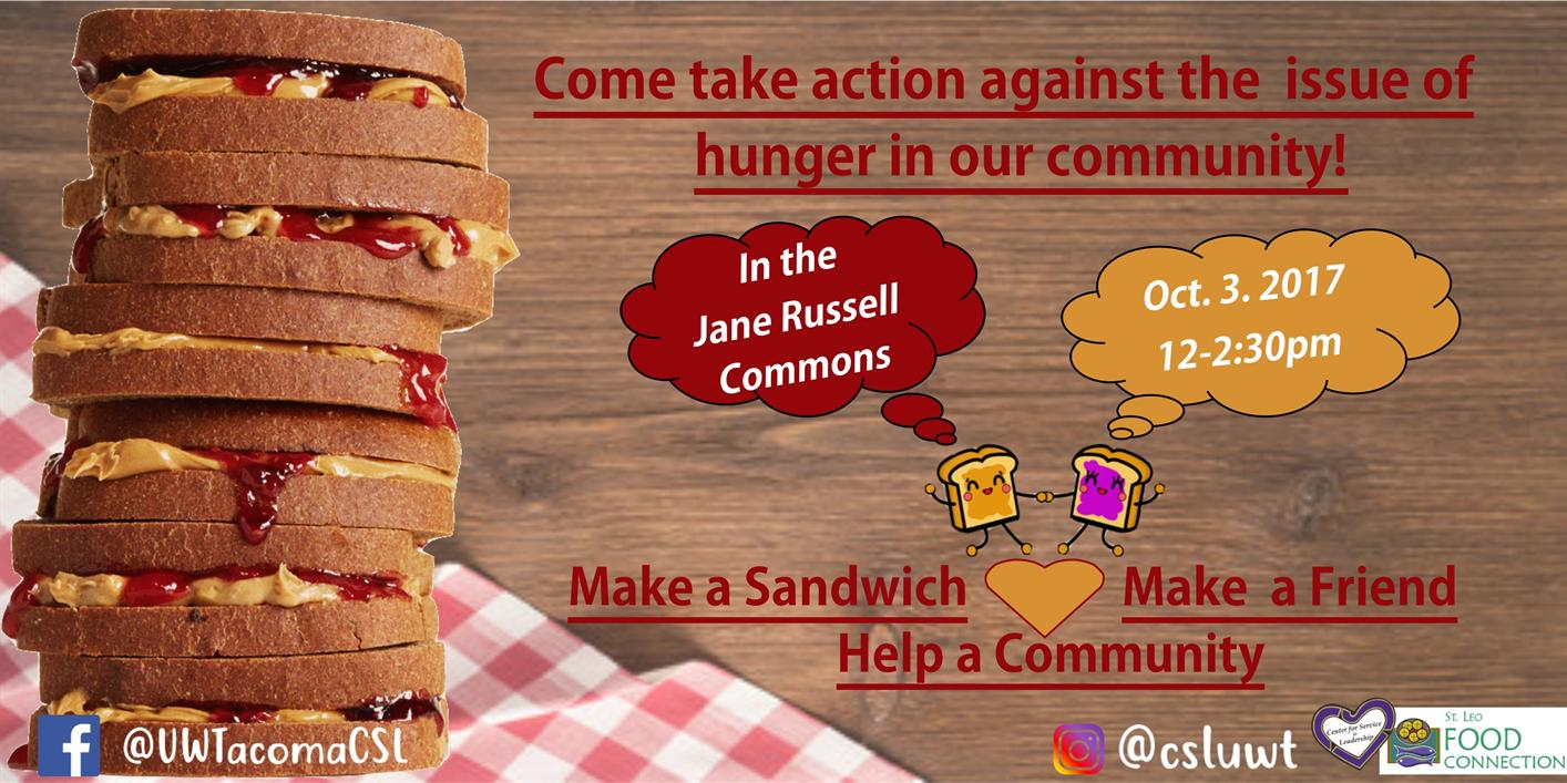 PB & J Sandwich Making-  For St. Leo's Food Connection