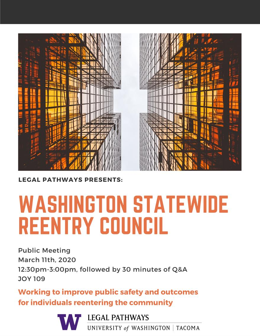 CANCELED: Washington Statewide Re-Entry Council Meeting