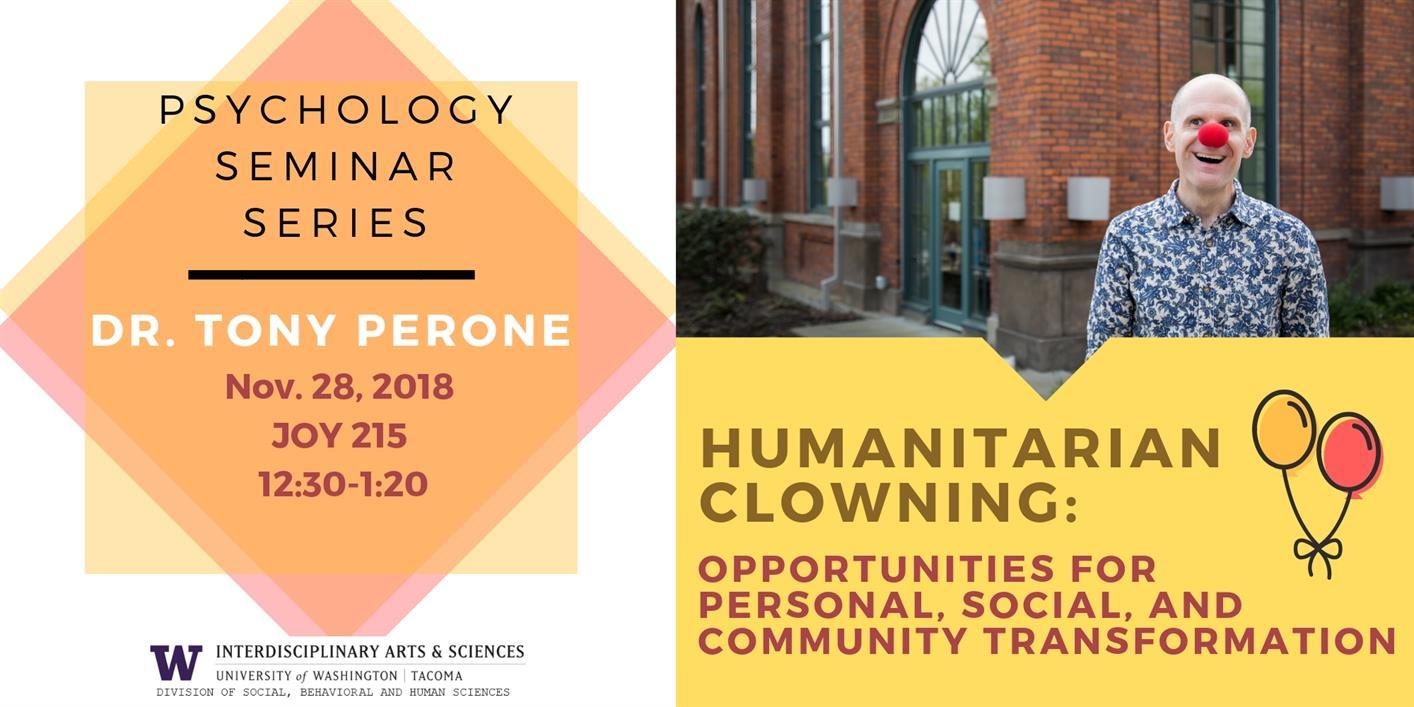 Psychology Seminar Series: Humanitarian Clowning