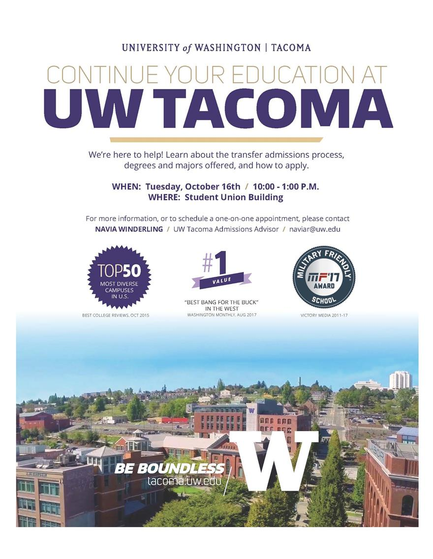 UW Tacoma Admissions at Green River College