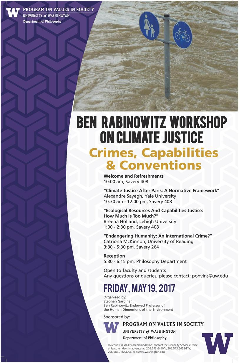Ben Rabinowitz Workshop on Climate Justice