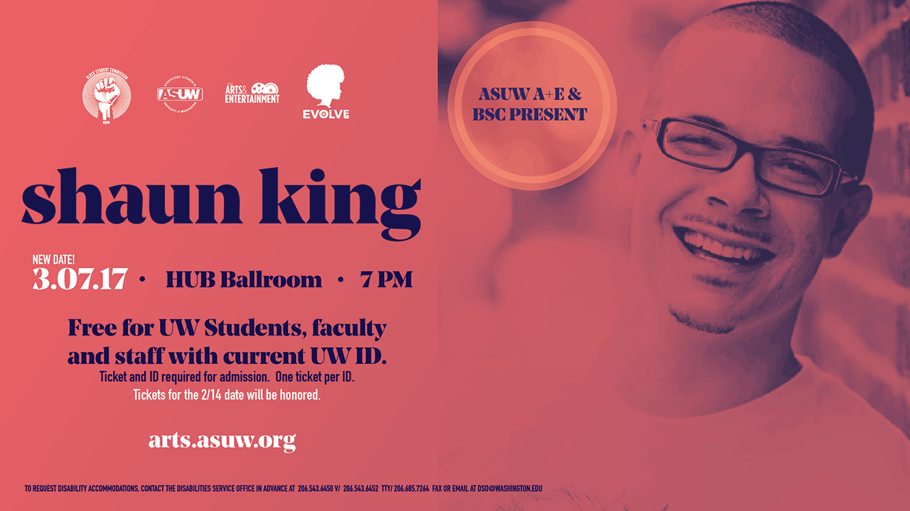 RESCHEDULED: An Evening with Shaun King