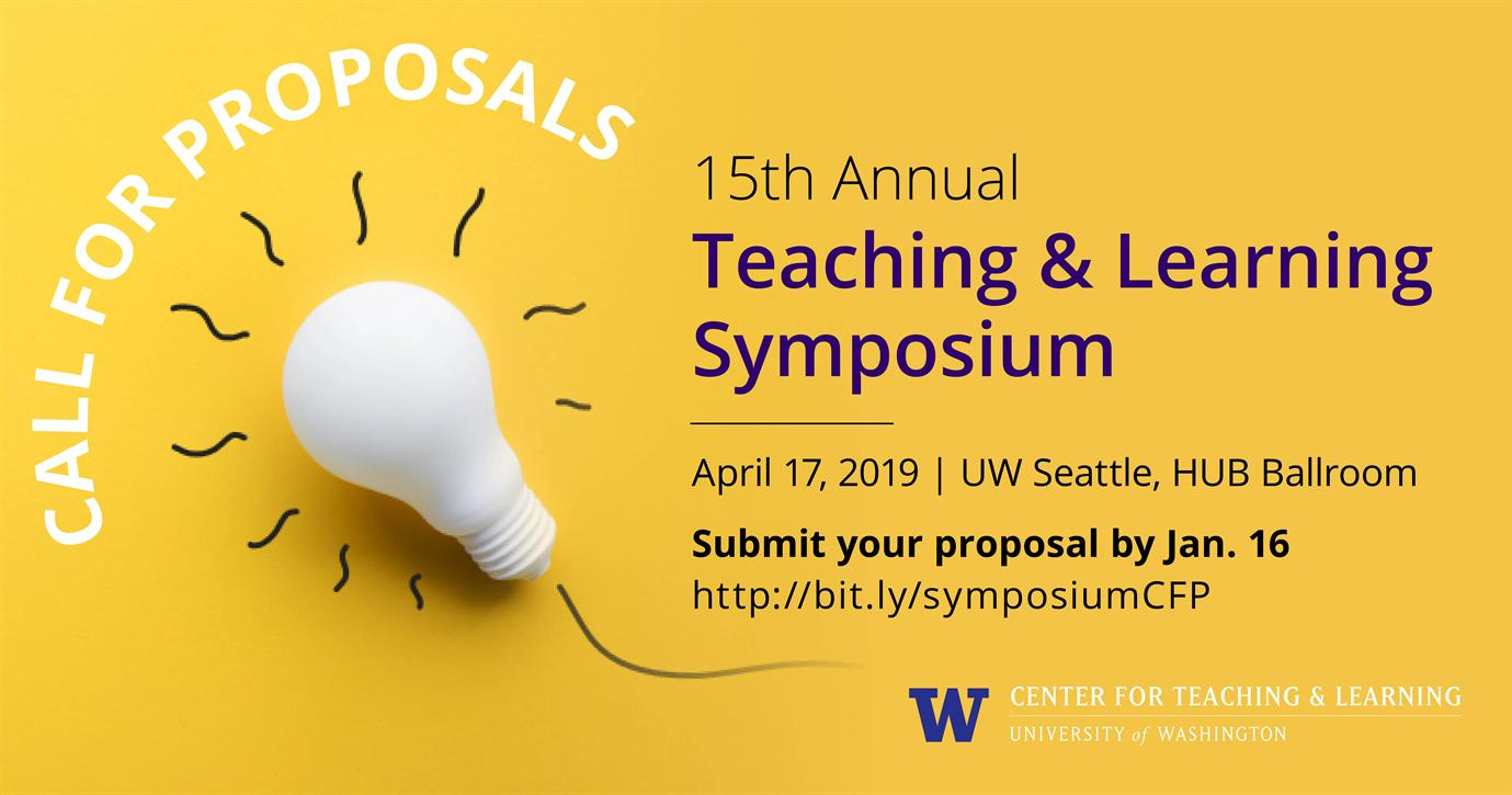 Call for proposals: 2019 Teaching & Learning Symposium