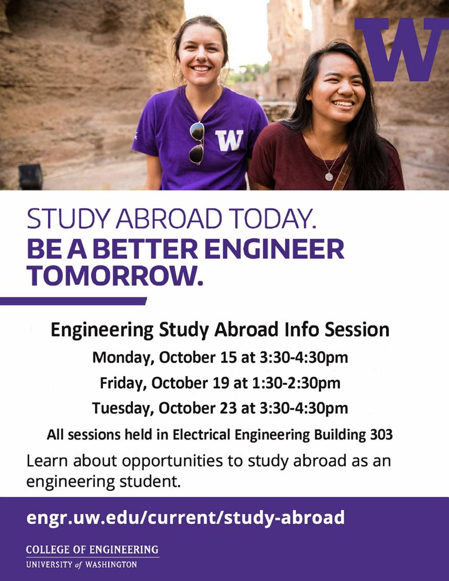 Engineering Study Abroad Info Session