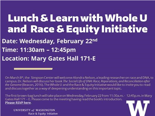 Lunch and Learn with the Whole U and the Race & Equity Initiative