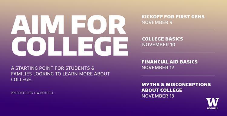 Undergraduate Admissions: Aim for College Series // Day 2: College Basics