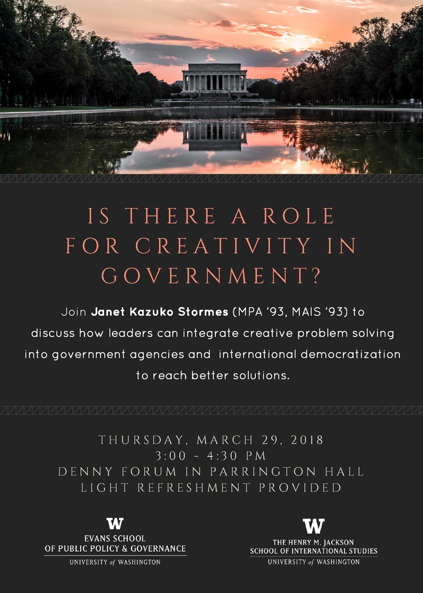 Is there a Role for Creativity in Government? Conversation with Janet Stormes