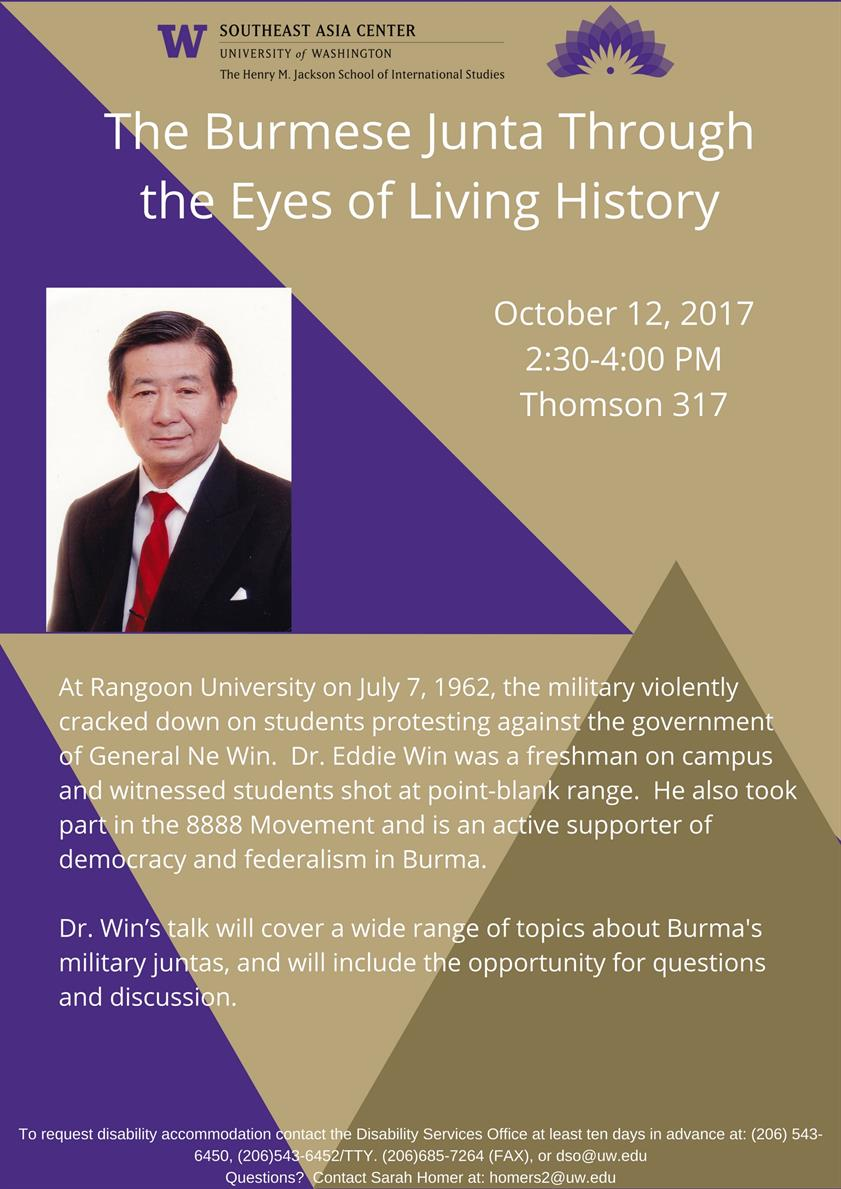The Burmese Junta through the eyes of living history - By Dr. Eddie Win
