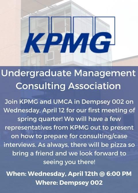 UMCA - KPMG Info Session