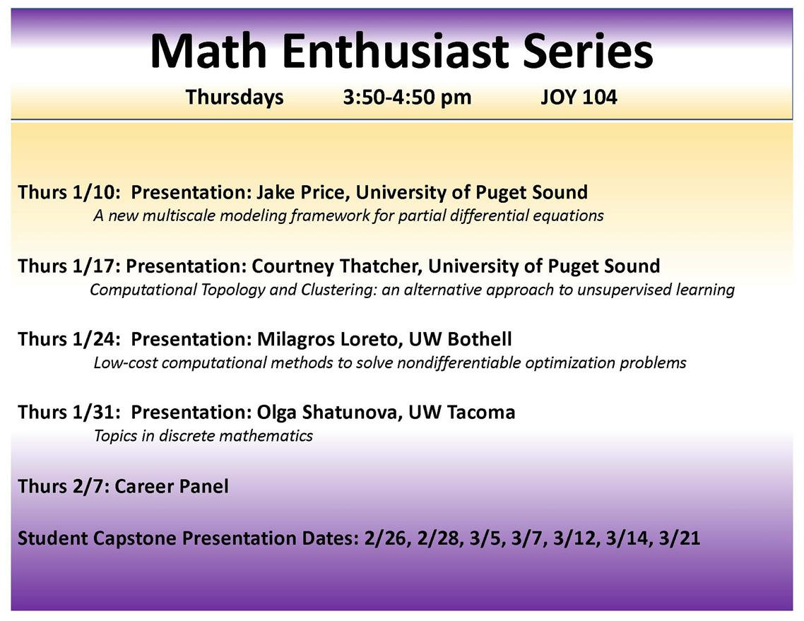 Math (Enthusiast) Series: Mathematic Career Panel