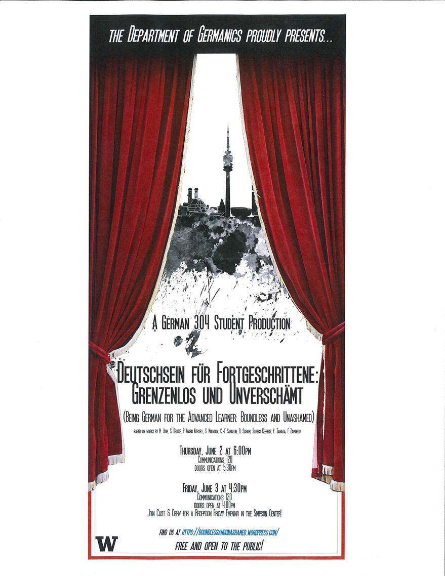 German 304 Performance of Deutschsein für Fortgeschrittene: Grenzenlos und Unverschämt