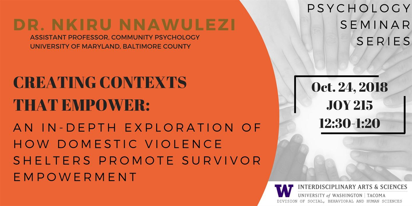 Creating Contexts that Empowers: Dr. Nkiru Nnawulezi