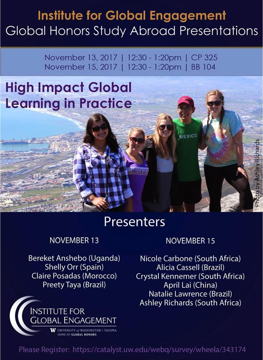 Global Honors Study Abroad Presentations