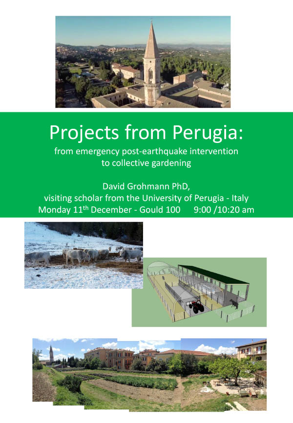 Projects from Perugia: from emergency post-earthquake intervention to collective gardening