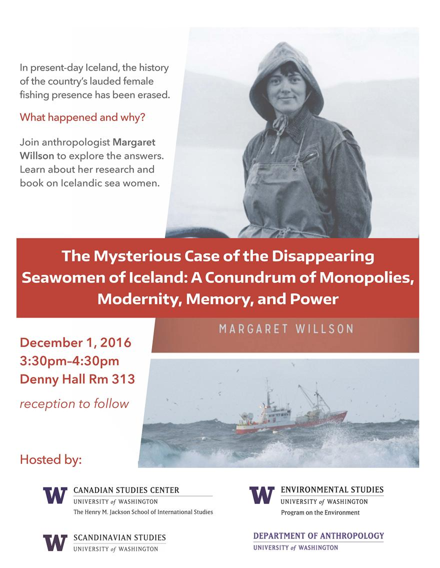 """The Mysterious Case of the Disappearing  Seawomen of Iceland: A Conundrum of Monopolies, Modernity, Memory, and Power"" - Margaret Willson"