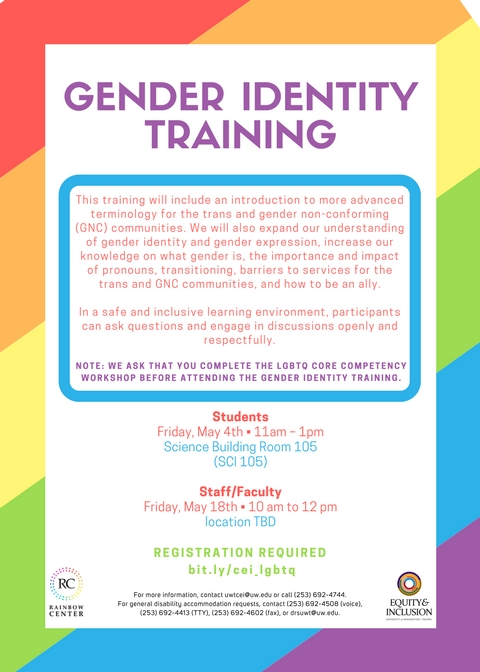 Gender Identity Training (student workshop)