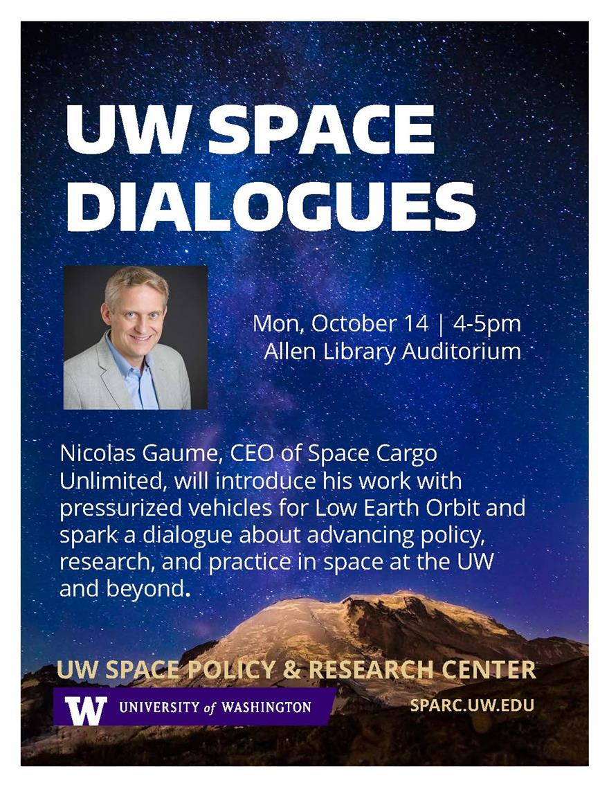 UW Space Dialogues with Nicolas Gaume