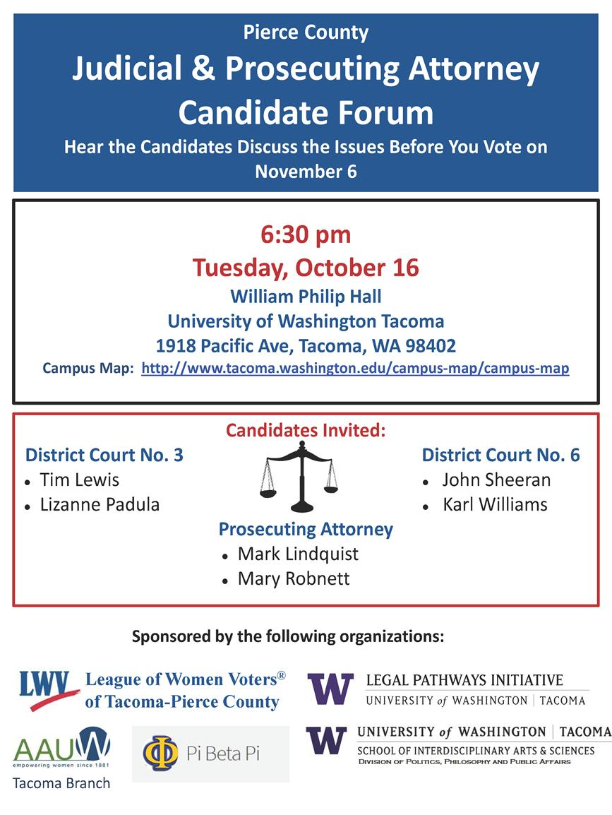 Pierce County Judicial and Prosecutor Forum
