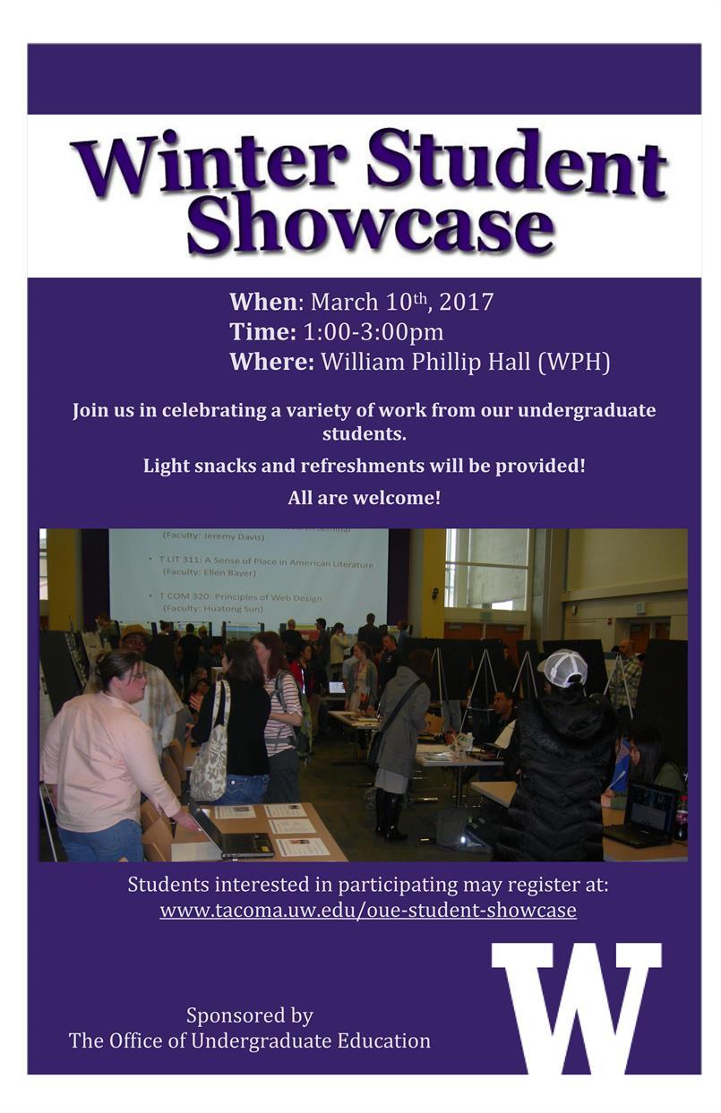 Winter 2017 Undergraduate Student Showcase